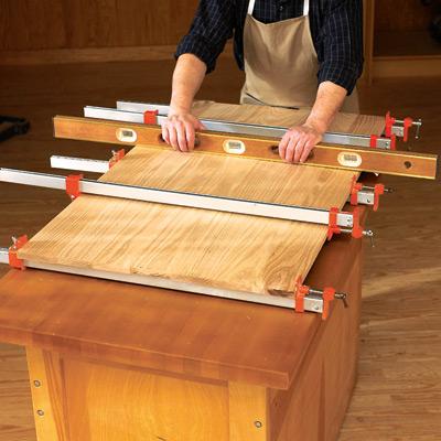 Изготовление клееного щита своими руками 58